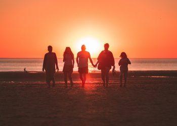 Family on beaches